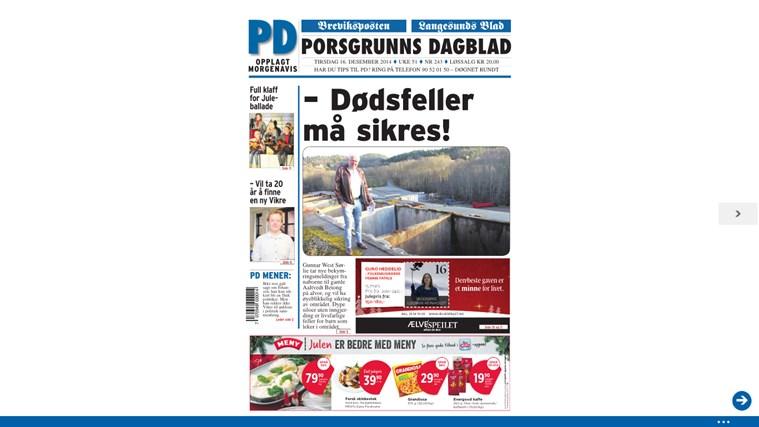 Porsgrunns Dagblad Digital Utgave dagblad news