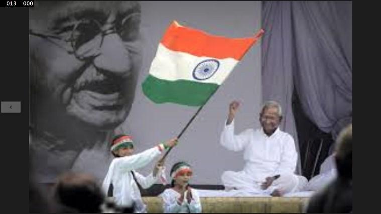 india flag holding