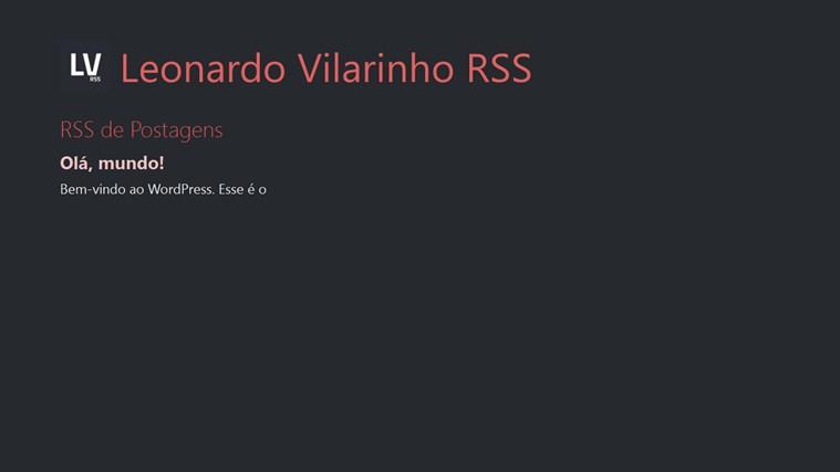 Leonardo Vilarinho RSS