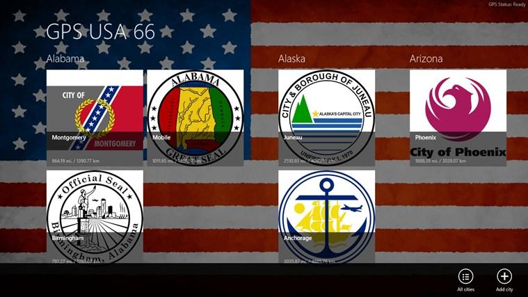 GPS USA 66 cities video