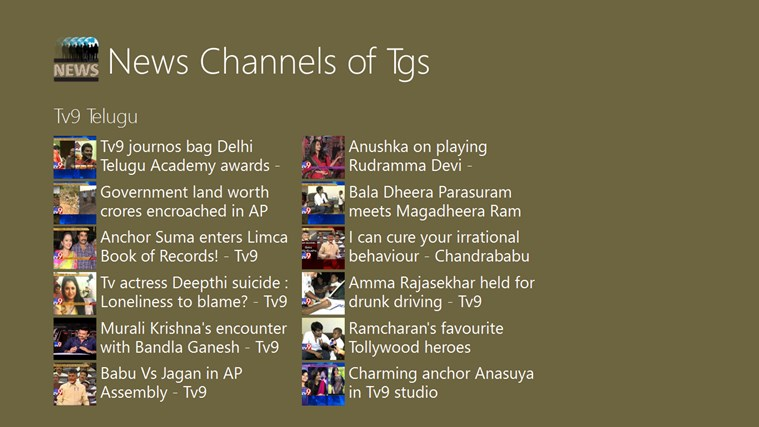 News Channels of TS channels youtube