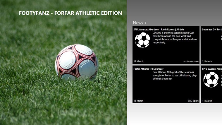 FootyFanz - Forfar Athletic edition