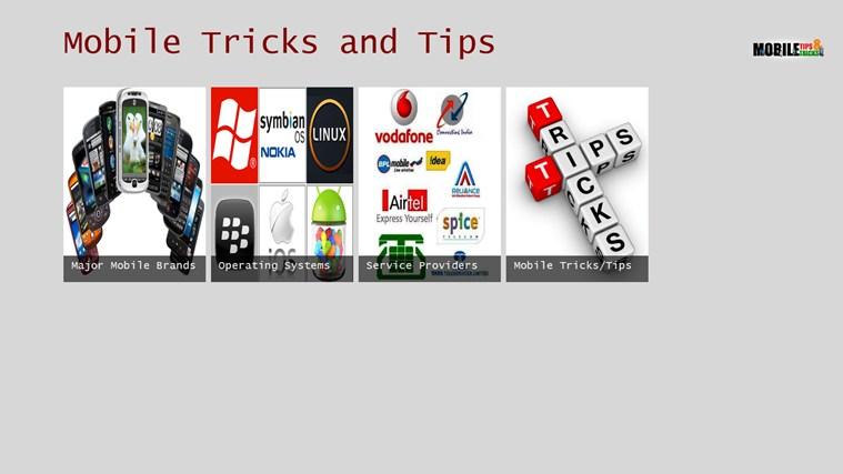 Mobile Tricks and Tips tips tricks
