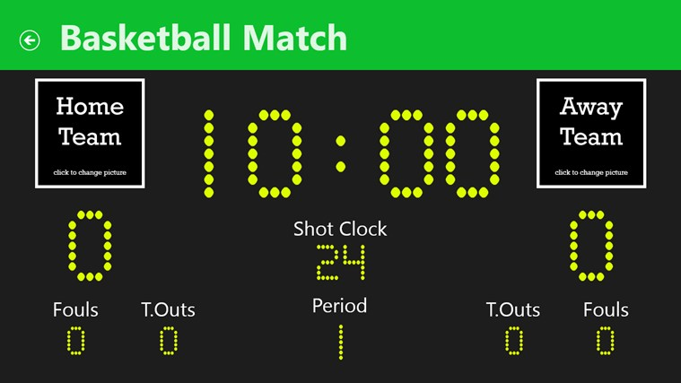 Sports Scoreboard futsal simple
