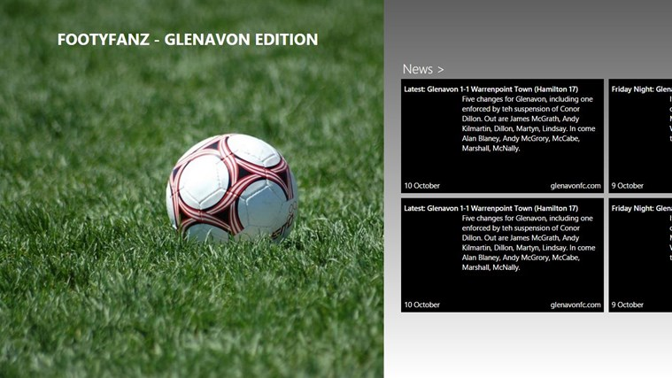 FootyFanz - Glenavon edition