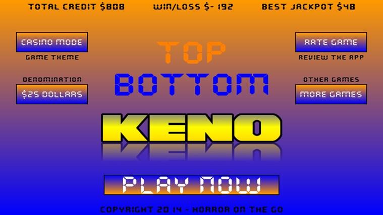 Top Bottom Keno