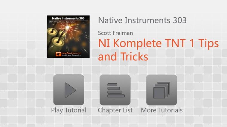 NI - Komplete: Tips & Tricks tips tricks