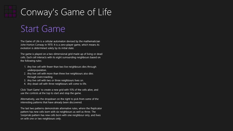 essay on the game of life