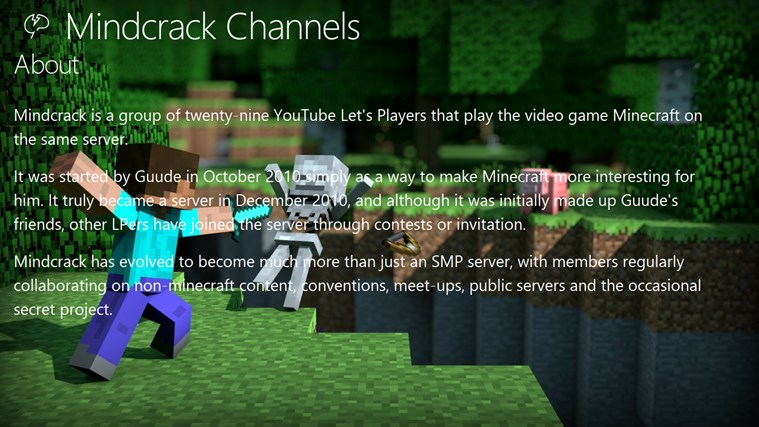 Mindcrack Channels channels