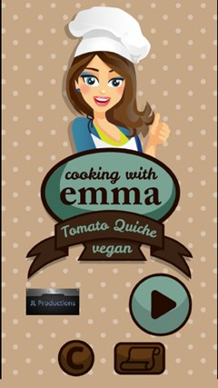 Cooking Games: Baking Baked Apples and Tomato Quiche With Emma