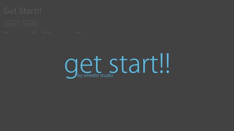 Get Start!! start video