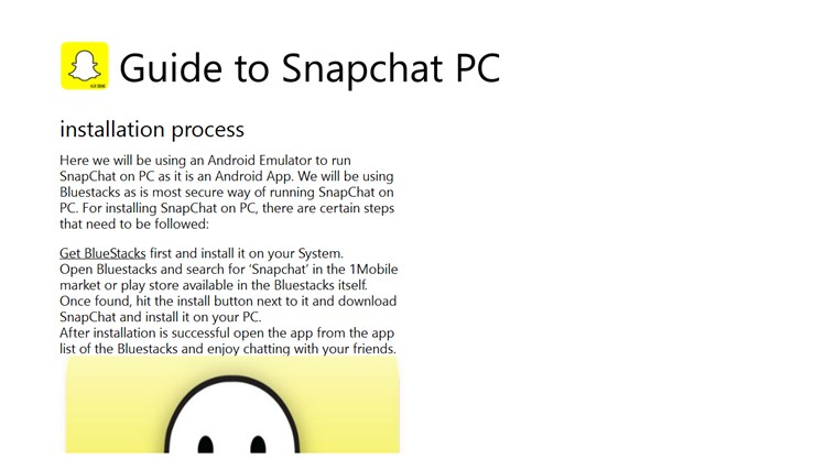 Guide to Snapchat PC