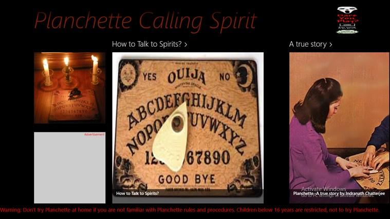 Planchet Calling Spirits bingo calling card