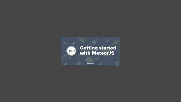 Build Real-time Web Application with MeteorJS