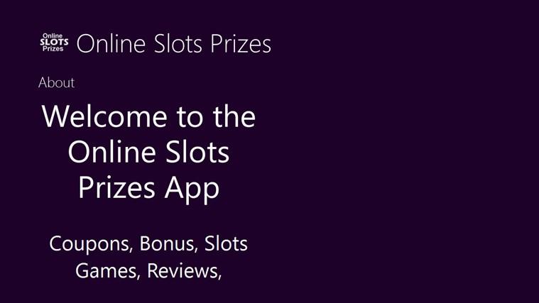 Online Slots Prizes