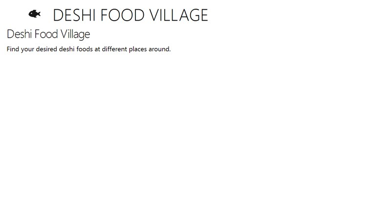 DESHI FOOD VILLAGE