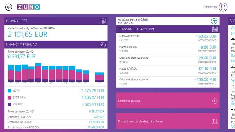ZUNO Mobile Banking SK