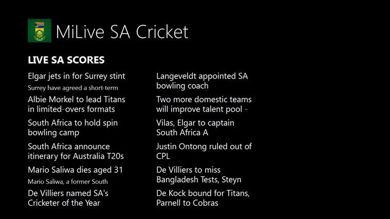 MiLive SA Cricket