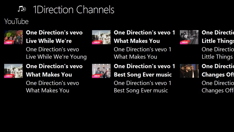 1Direction Channels channels youtube