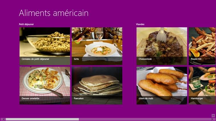 Cuisine Traditionnelle Américaine marcus produits