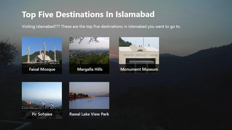 Top 5 Destination In Islamabad destination